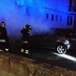 L'auto coinvolta nell'incendio