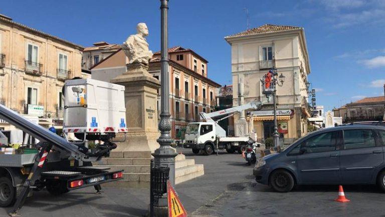 Nuova illuminazione per la piazza della Repubblica a Pizzo