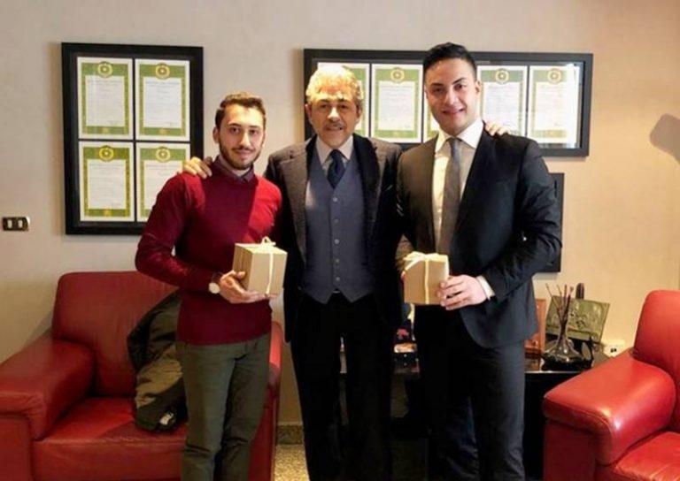 Studenti universitari modello, il questore di Vibo omaggia De Nisi e Ceravolo