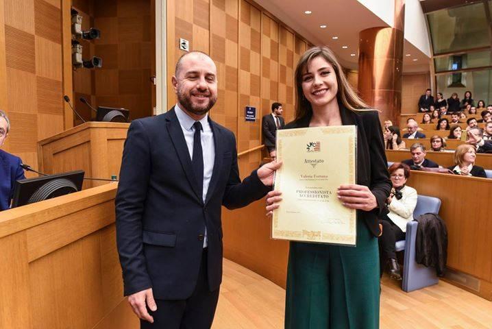 Da Pizzo a Roma, giovane laureata premiata alla Camera dei deputati
