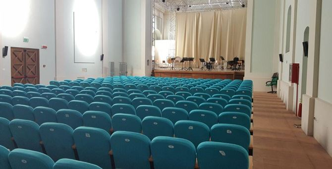 L'interno dell'auditorium