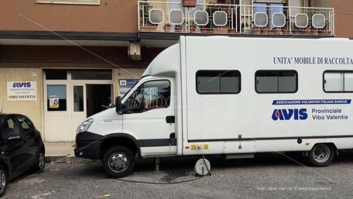 L'unità mobile dell'Avis