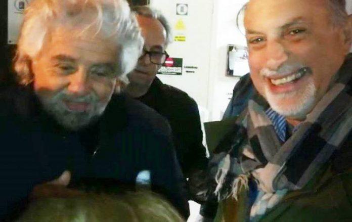Domenico Santoro con Beppe Grillo