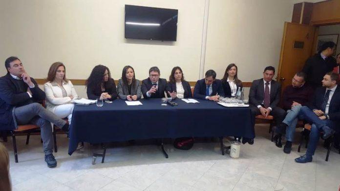 I rappresentanti delle liste col candidato a sindaco