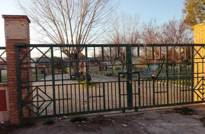 Il cancello dell'ex Foro boario