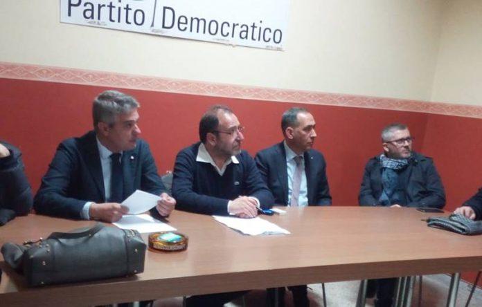 La recente direzione provinciale del Pd, al centro Insardà