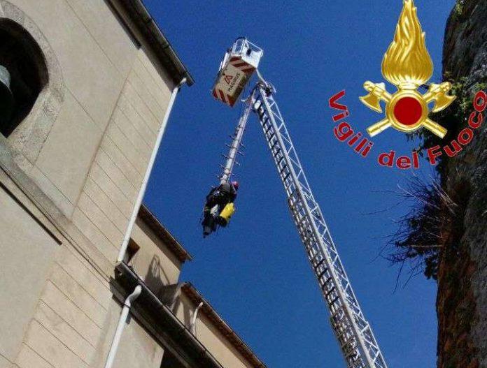 L'intervento dei Vigili del fuoco a Vibo