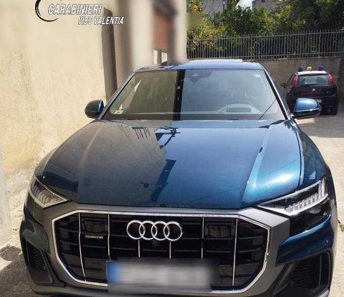 L'auto sequestrata dai carabinieri