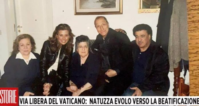 Pippo Franco e la moglie con Natuzza