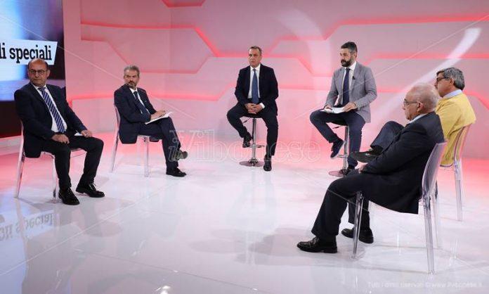 Dibattito in studio tra i candidati di Mileto