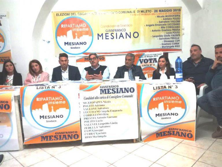 Comunali a Mileto, Gianfranco Mesiano presenta la sua squadra