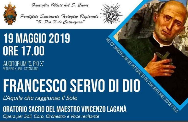 """Francesco Servo di Dio"", a Catanzaro l'Oratorio sacro ispirato a don Mottola"