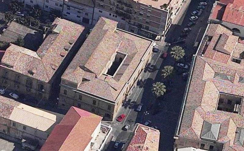 Una veduta dall'alto di Palazzo Gagliardi - de Riso