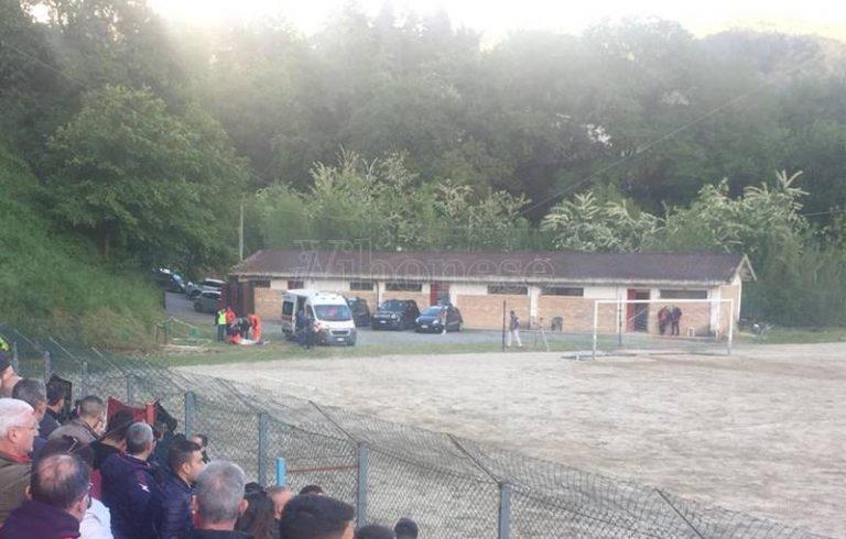 Petardo in campo durante la partita, paura per un giocatore del Soriano