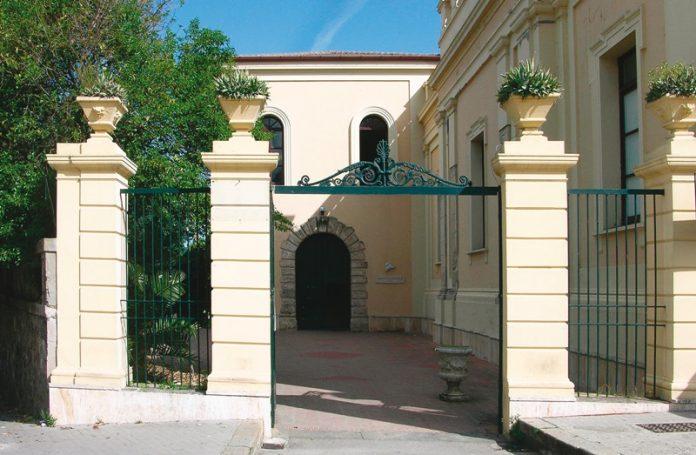 L'ingresso del Valentianum, sede della Camera di commercio