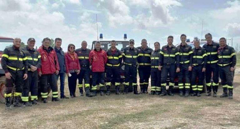 Vigili del fuoco, completato il corso per la guida di mezzi pesanti e fuoristrada