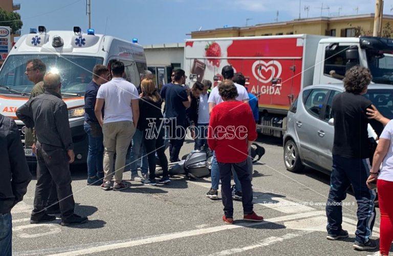 Incidente stradale a Pizzo, ferito un motociclista