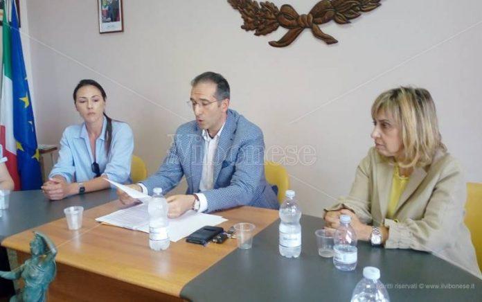 La conferenza stampa di Amoroso a Polia