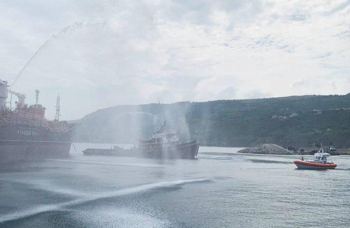 L'esercitazione al porto di Vibo Marina