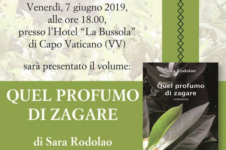 """""""Quel profumo di zagare"""", Sara Rodolao presenta il suo romanzo a Capo Vaticano"""