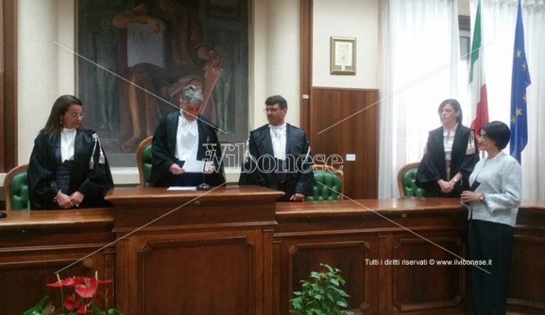 Tribunale di Vibo: cerimonia di insediamento del giudice Tiziana Macrì