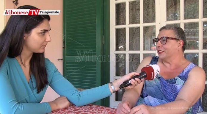 Maria Canduci nel corso dell'intervista