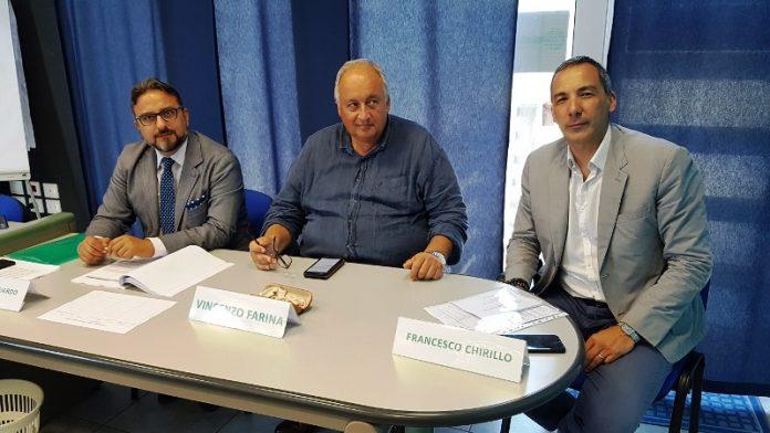 Da sinistra Mongiardo, Farina e Chirillo