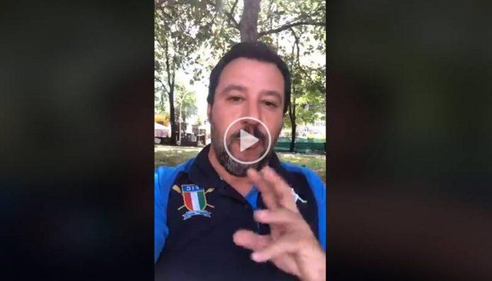 Il videomessaggio di Salvini