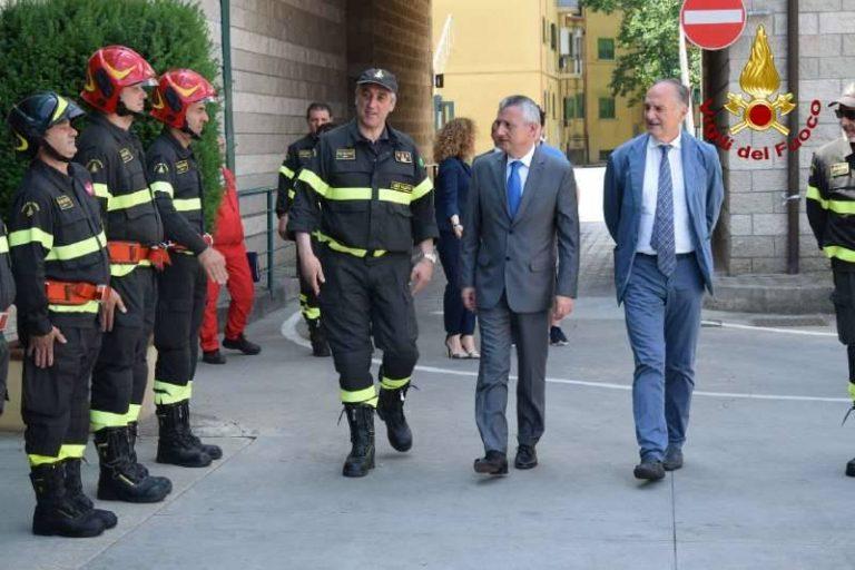 Il prefetto Zito in visita al Comando dei Vigili del fuoco di Vibo