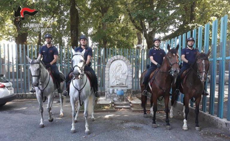 Carabinieri a cavallo nelle Serre vibonesi alla ricerca di piantagioni di marijuana
