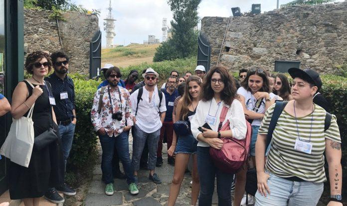 Alcuni degli studenti in visita ai siti vibonesi