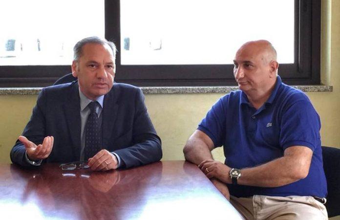 Il direttore generale Pappaterra e Migliorino