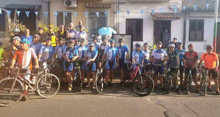 Pellegrini in bici da Mileto a Dinami in onore di Giuseppe Cupi