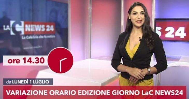 L'edizione giorno del Tg di LaC News24 cambia orario – Video