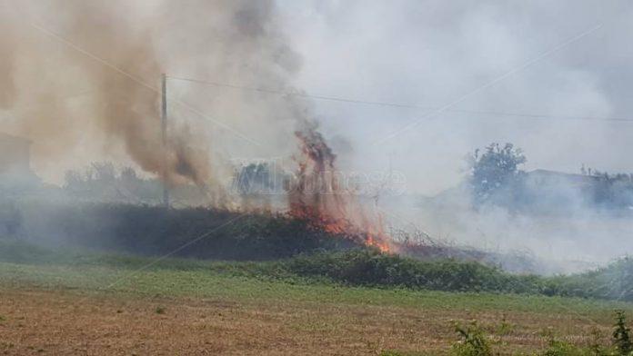 Le fiamme in contrada Bitonto