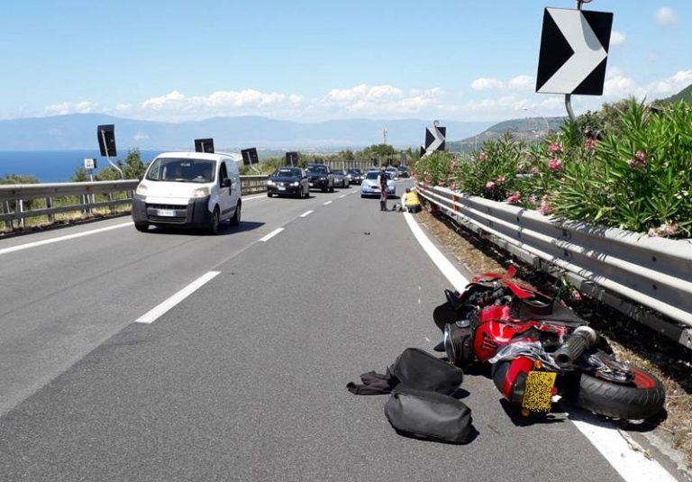 Incidente nel tratto vibonese dell'A2, ferito un centauro scozzese