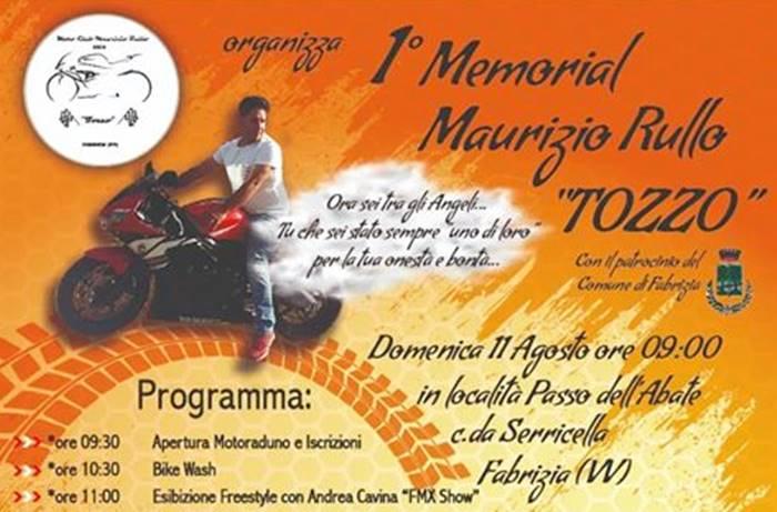 """Fabrizia, partita l'organizzazione del primo Memorial Maurizio Rullo """"Tozzo"""""""