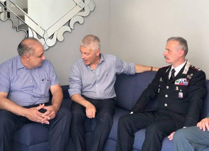 Nicola Morra con Zappia e il colonnello Romano