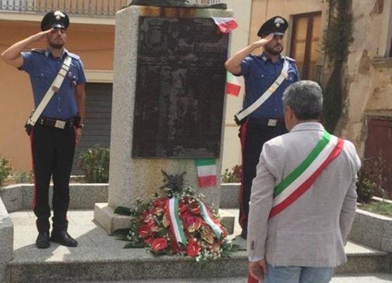 Nicotera, l'omaggio del Comune al carabiniere ucciso a Roma