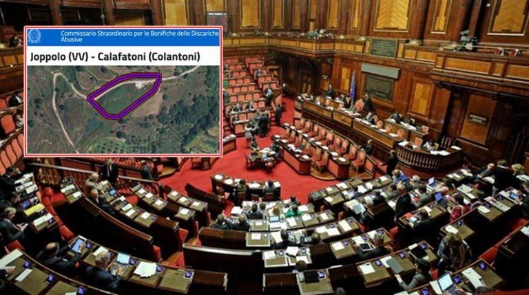 Fondi bonifica discarica di Nicotera finiti al Comune di Joppolo: il caso approda in Senato