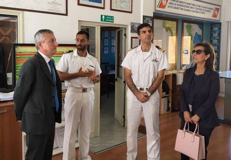 Il prefetto Zito in visita alla Capitaneria di porto di Vibo Marina