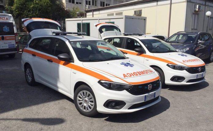 Le automediche consegnate al Suem 118