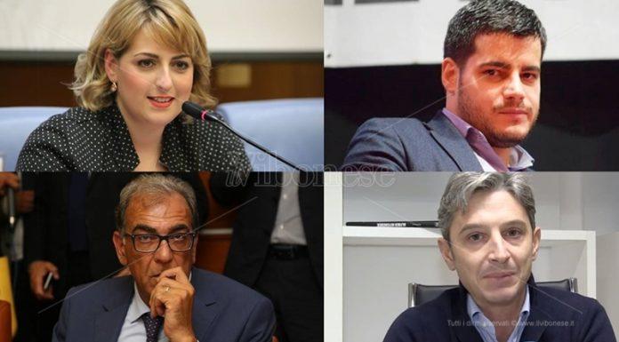 In senso orario Dalila Nesci, Riccardo Tucci, Giuseppe Mangialavori e Antonio Viscomi