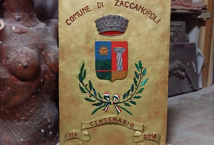 Lo stemma del Comune di Zaccanopoli