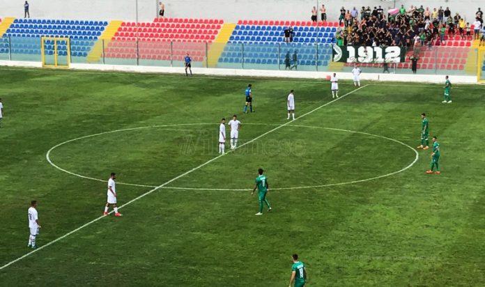 Un momento della partita tra Vibonese-Avellino