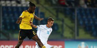 Berardi in azione con la maglia del San Marino