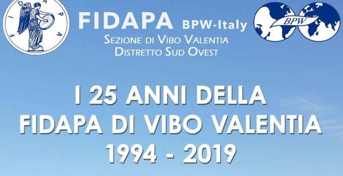 Venticinque anni di Fidapa a Vibo, un convegno e un premio per la ricorrenza