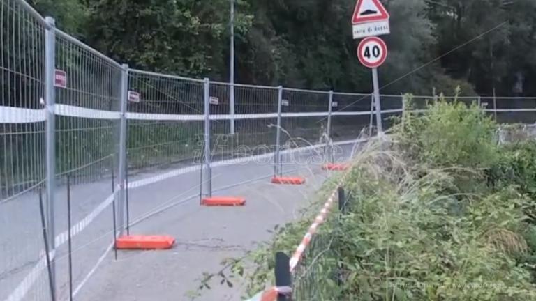 Longobardi, la strada continua a sbriciolarsi e cresce la preoccupazione – Video