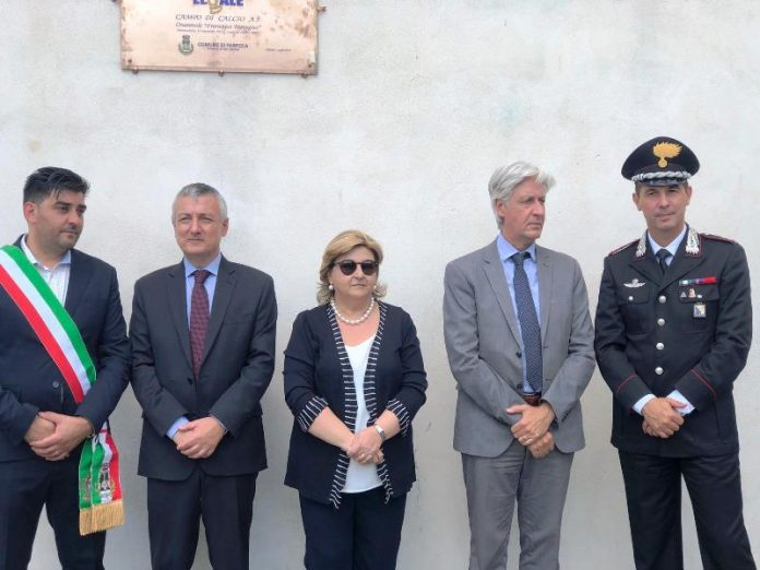 Alcuni momenti dell'inaugurazione a Fabrizia