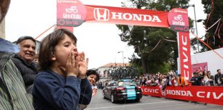 Un traguardo volante del Giro a Mileto